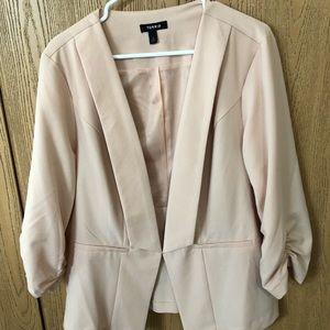 Torrid Blush Colored Blazer Size 2 NWOT